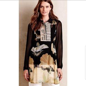 Anthropologie Bl-nk vespertide embellished tunic